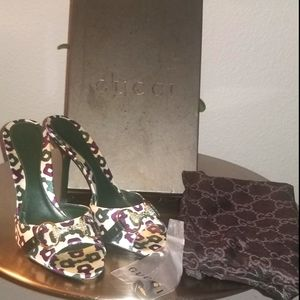 AUTHENTIC ❣GUCCI GUCCI Sand Tess Heels size 8/38